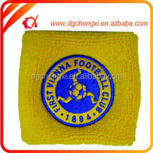 soccer Wristband/ wrist coach in 8*8cm With Embroidery Logo