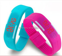 plastic watch case fashion touch screen led watch digital with silicone strap for lady vogue led watch