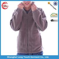 Customized micro polar fleece jacket with elastic cuff