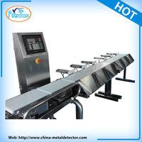 Conveyor weight sorting machine