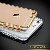 100% in stock!wholesale fancy hard cases for iphone6,clear PC cases for iphone6,for iphone6 crystal case