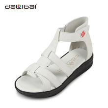 DALIBAI 2013 comfortable latest design straps with cutouts lady flat shoes in summer