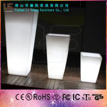 Effective LED Lighting Garden Flower Planter /Garden Flower Pot/ Factory Driect Wholesale LED Flower Pots
