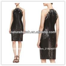De lentejuelas sin mangas vestido de cóctel, señoras vestido de occidental diseños( ydq03315)