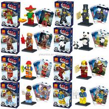 Cartoon Anime Action Mini Figure 8pcs/set Kids Educational Building Blocks Minifigures Toys