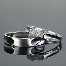 adjustable plain silver engagement and wedding rings
