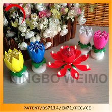 China Mainland Best Quality Flower Music Candle Manufacture