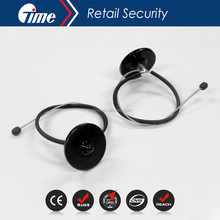 Ontime EAS Anti-Theft Wine Security Bottle Neck Hard Tags With480mm Metal Lanyard Cable With Ball BT3005