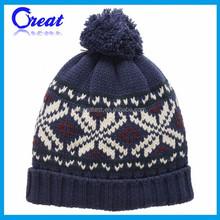 2015 Custom Design Comfortable Men Jacquard Hat
