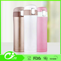 12oz stainless steel small travel mug with button lid