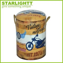Classical design factory price Farm Handmade Decor Shabby Chic Antique Wooden Bucket with handle