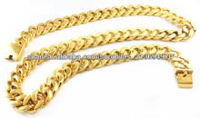 Oro mens collares de cadena para los niños joyas de alta cadena de talón