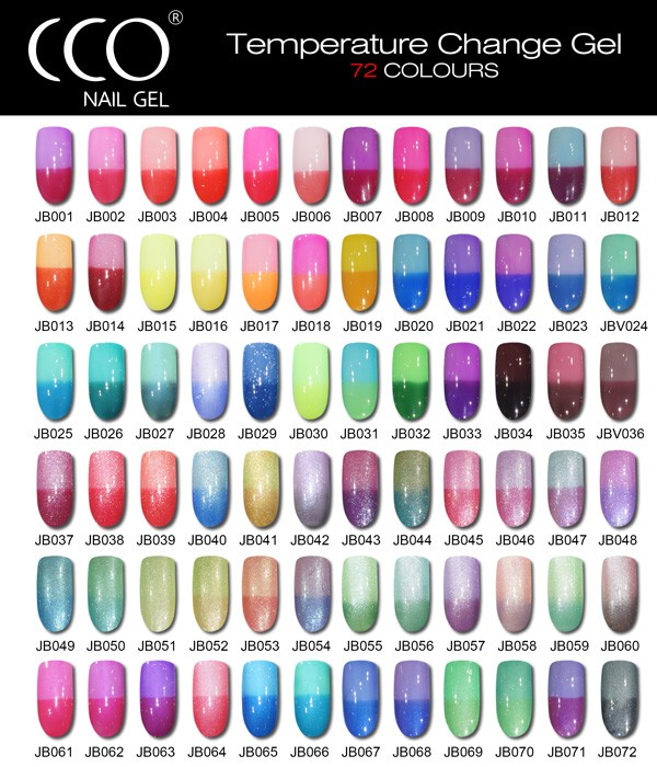 Cco Nail Gel Temperature Chameleon Color Changeable Cc Soak Off Gel ...