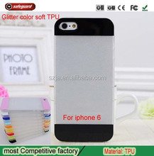Hot selling bling case for apple 6 Glitter TPU mobile phone case for iphone 6