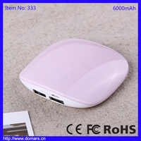 Portable RoHS 6000mAh Power Bank Ultrathin Mobile Phone Charger Emergency USB Charger For Mobile Phone