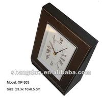 Leather coated Clock, made by delicate workmanship