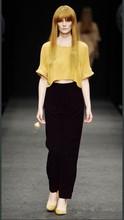 HFR-KP41 European 2015 new copper ammonia silk Fiber female trousers wide silk pants summer casual pants for women