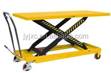 SKYSCRAPING TOWER electrical mini scissor lift working platform hand operated scissor configuration lift