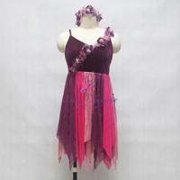 Girls Lyrical/Contemporary Dress Dancing Dresses for Women Ballet Dance Costume Stage Wear