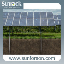 Ground screw footing solar panel mounting support