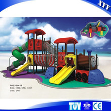 outside playground with plastic slide