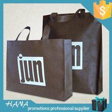 Popular manufacture black non woven shopping bag with logo