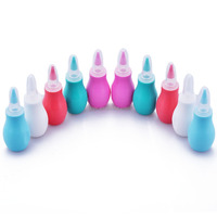 healthy care silicone baby nasal aspirator