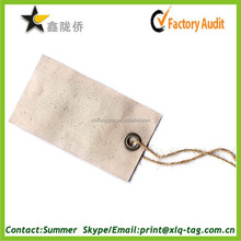2015 custom hot very high quality recycled paper hang tag