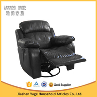 Latest lazy boy luxury living room furniture 1 seater recliner sofa design 9018