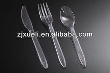 plastic spoon and fork,plastic traveling fork and knife set,disposable plastc cutlery