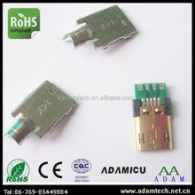 Micro USB 2.0 receptacle board connector - reversible