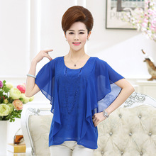 Wholesale Custom OEM long with jeans with gold foil printing passion women tank top blouses shirts