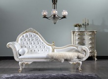 Genuine leather luxury chaise lounge for hotel