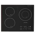 Aparato de Cocina 3 Quemadores Estufa de Inducción Eléctrica Multi Cocinadora