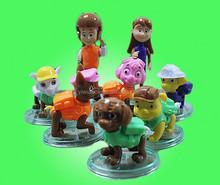 2015 New Anime 8pcs/lot 7-11cm Paw Patrol Plastic Action Figure Model Doll Toys
