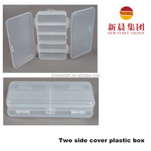 Double side open plastic fishing hook box ,tackle box for sea