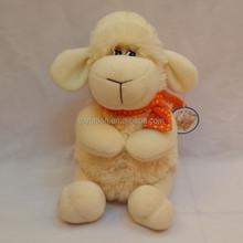 with flower plush sheep / plush animal toy / plush promotioal gift