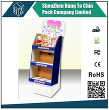 Corrugated retailer for cup/paint/box supermarket paper display shelf