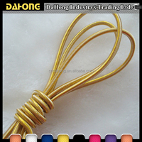high strength shinny metallic gold elastic cord for face masks