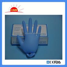 Blue nitrile gloves for food/medical/examination use