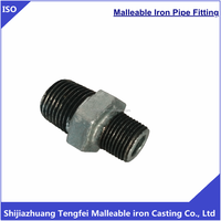 150 lbs malleable cast iron pipe fitting hexagon reducing nipple 245