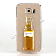 2015 Hot Selling 3D Beer Bottle Design TPU Case for Samsung S5 i9600, for Samsung Galaxy S5 case cover