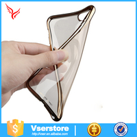 Ultra thin Electroplating Bumper Case + TPU Soft Back Cover For iPhone 6 mobile phone case