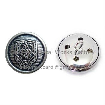 Blazer botões, Botão uniforme, Exército botão, Botão de metal, Botão de alumínio