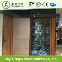 decorative Natural ash/oak/walnut/teak veneer Fancy Plywood Sheet to Vietnam/Thailand market Linyi