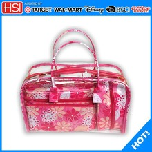 2015 High quality red canvas with flower makeup kits from professional manufactory