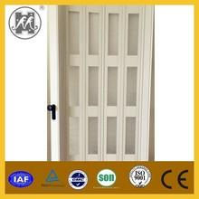 Fashionable PVC sliding door plastic folding door acrylic window