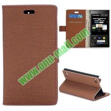 Gold Supplier Cloth Pattern Wallet Flip Leather Case for Blackberry Z3