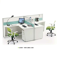 used office workstation table office partition material glass wall with melamine MDF finishing (JO-7037)