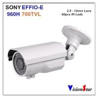 "700TVL 1/3"" EXview HADII CCD Excellent Image Outdoor Using Security IR Waterproof CCTV Camera"